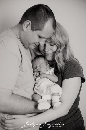 Noworodkowa, rodzinna sesja zdjeciowa