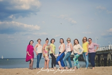 Plenerowa sesja zdjeciowa na plaży